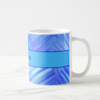 Wavy Blue Glass Coffee Mug