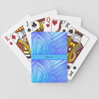 Wavy Blue Glass Poker Deck