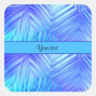 Wavy Blue Glass Square Sticker