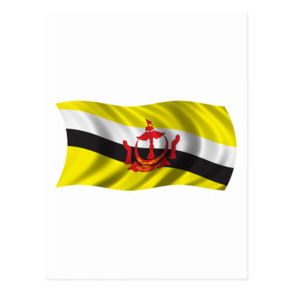 Wavy Brunei Flag Postcard