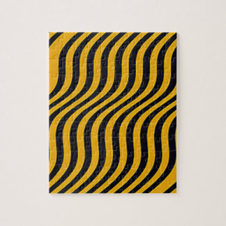 Wavy Bumblebee Slide Stripes Puzzle
