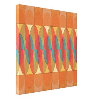 Wavy color stripe canvas print