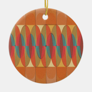 Wavy color stripe ceramic ornament