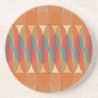 Wavy color stripe coaster
