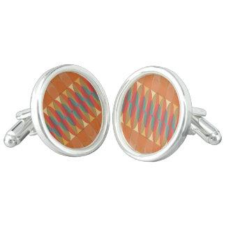 Wavy color stripe cuff links