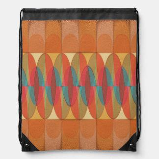 Wavy color stripe drawstring bag