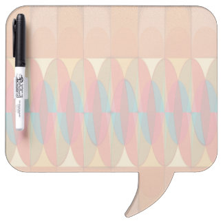 Wavy color stripe dry erase board