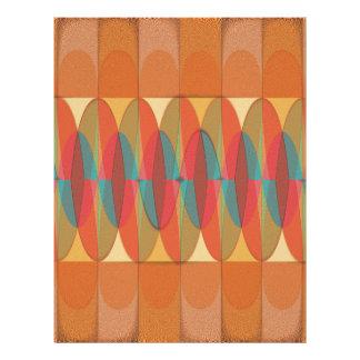 Wavy color stripe flyer