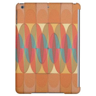 Wavy color stripe iPad air case