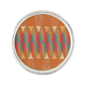 Wavy color stripe lapel pin
