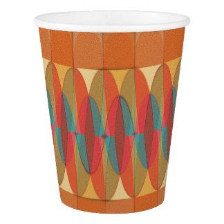 Wavy color stripe paper cup