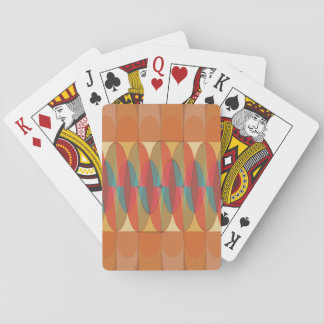 Wavy color stripe playing cards