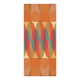 Wavy color stripe rack card