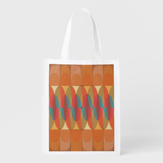 Wavy color stripe reusable grocery bag