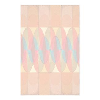 Wavy color stripe stationery
