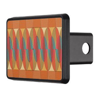 Wavy color stripe trailer hitch cover