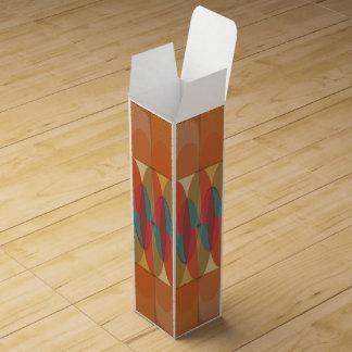 Wavy color stripe wine boxes