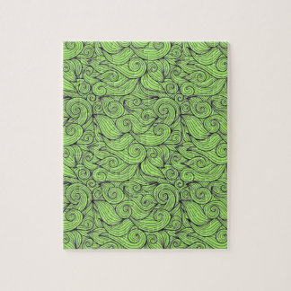 Wavy Curly Abstract Design Customizable Color Puzzle