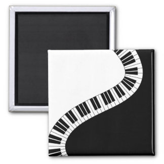 Wavy Curved Piano Keys Magnet