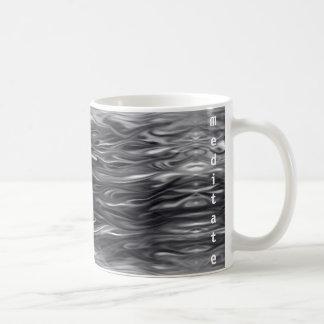Wavy Design with meditate text on Coffee/Tea Mug