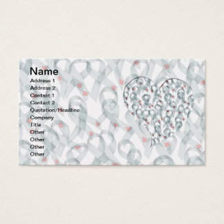 WAVY DIABETES RIBBONS BUSINESS CARD