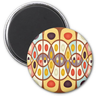 Wavy geometric abstract 2 inch round magnet