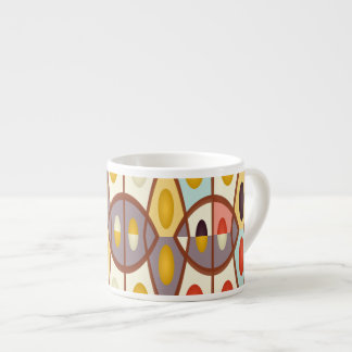 Wavy geometric abstract espresso cup