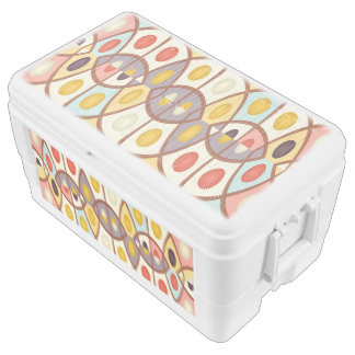 Wavy geometric abstract ice chest