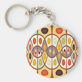Wavy geometric abstract keychain