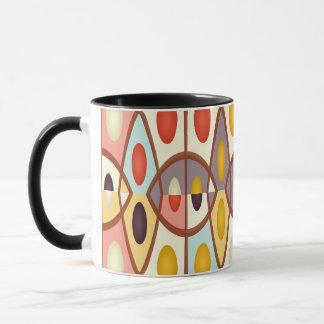 Wavy geometric abstract mug