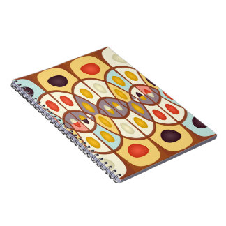 Wavy geometric abstract notebook