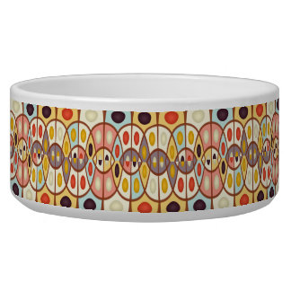 Wavy geometric abstract pet water bowls