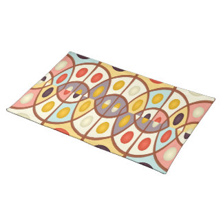 Wavy geometric abstract placemat