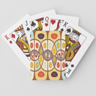 Wavy geometric abstract playing cards