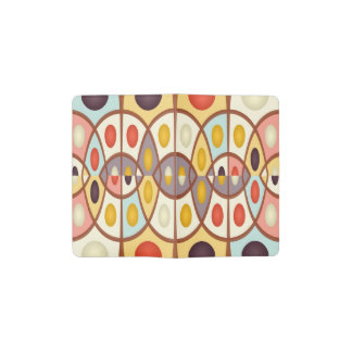 Wavy geometric abstract pocket moleskine notebook