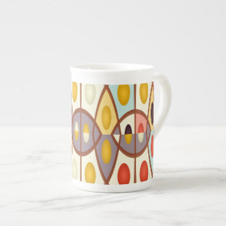 Wavy geometric abstract tea cup