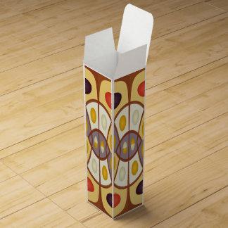 Wavy geometric abstract wine box