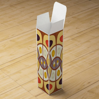 Wavy geometric abstract wine gift boxes