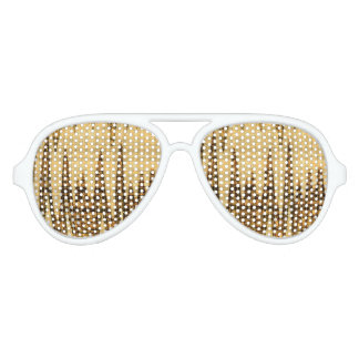 Wavy golden abstract party sunglasses