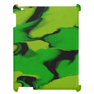 Wavy Green and Black Case For The iPad