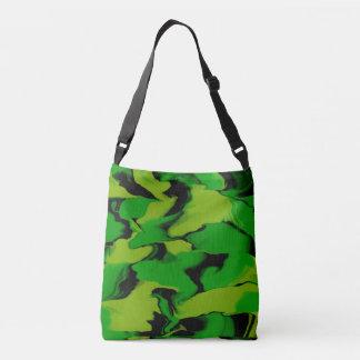 Wavy Green and Black Crossbody Bag