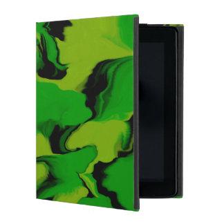 Wavy Green and Black iPad Cover