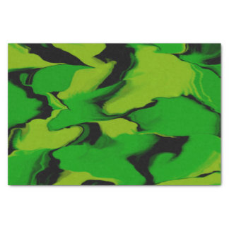 Wavy Green and Black Tissue Paper