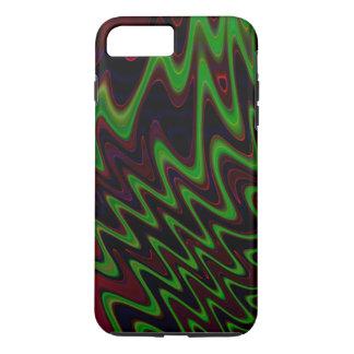 Wavy Green Orange Abstract iPhone 7 Plus Case