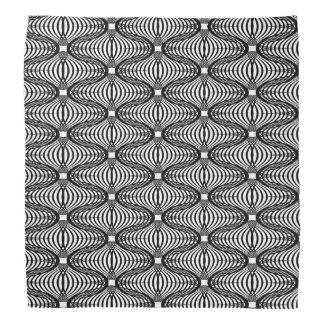 Wavy Lace like Black White Bold Modern Pattern Bandanas