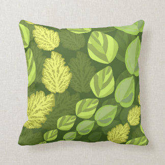 Wavy Leaves Throw Pillow