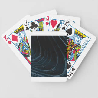 Wavy line of flow bicycle playing cards
