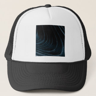 Wavy line of flow trucker hat