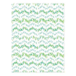 Wavy Linear Stripes Pattern Design Postcard