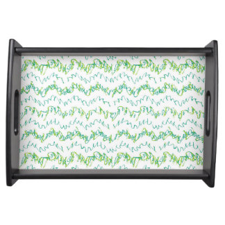 Wavy Linear Stripes Pattern Design Serving Tray
